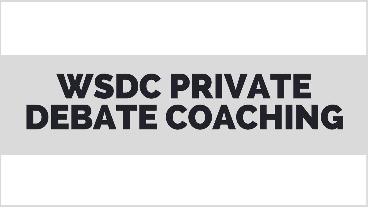 WSDC private debate coach