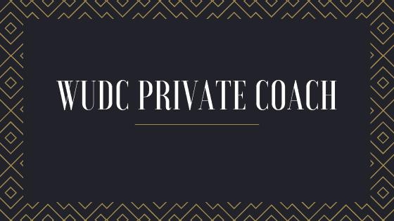 WUDC / BP private debate coach