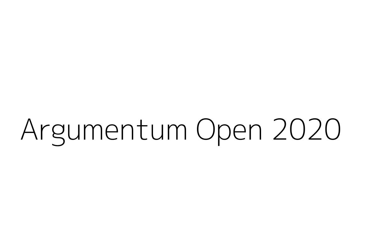 Argumentum Open 2020