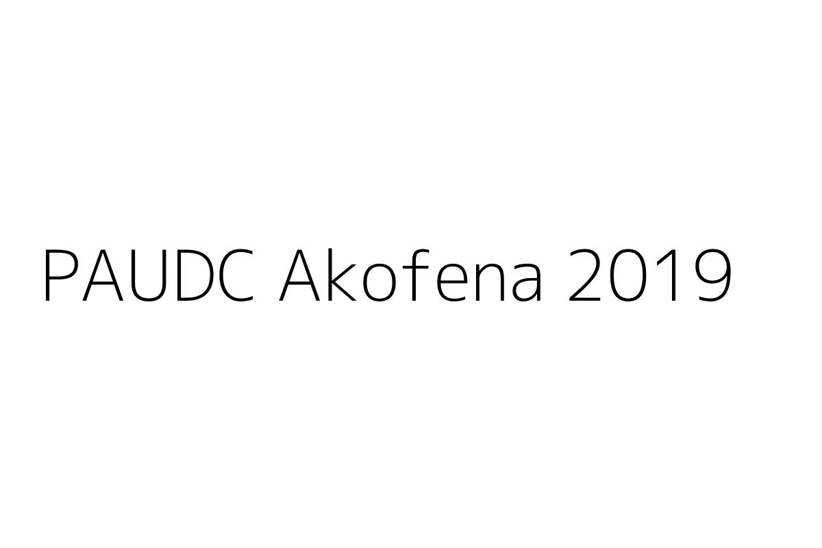 PAUDC Akofena 2019