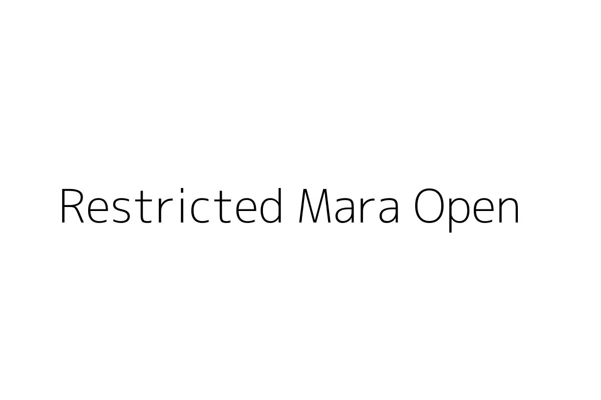 Restricted Mara Open