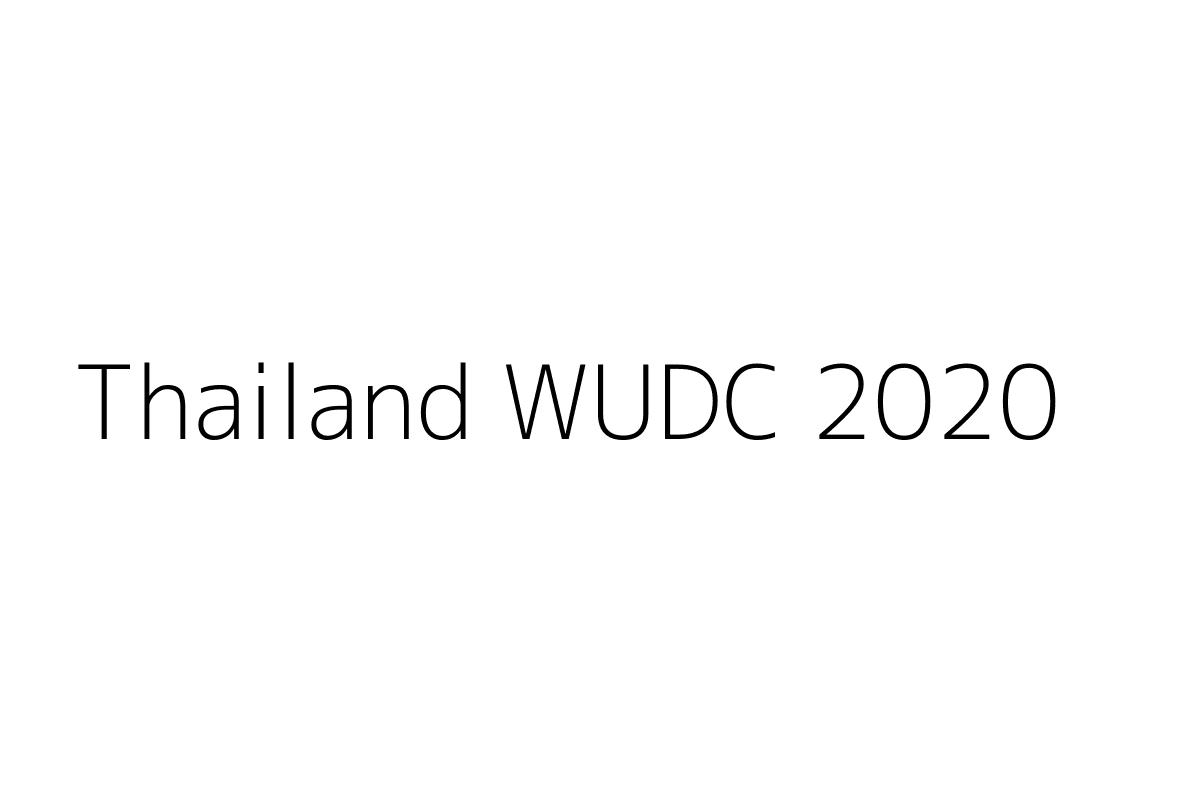 Thailand WUDC 2020